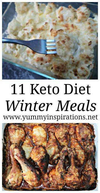 11 Keto Winter Recipes - The Best Low Carb Ketogenic Diet Friendly Comfort Foods and Meals to warm you up during chilly weather.