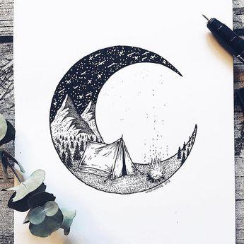 Artista desenha milhões de pequenos pontos para aliviar sua ansiedade e os resultados são surpreendentes