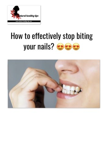 How to effectively stop biting your nails