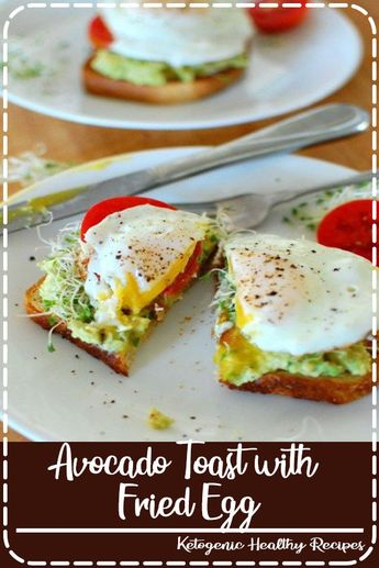 Avocado toast with fried egg! Breakfast is served. Yummy and totally satisfying.