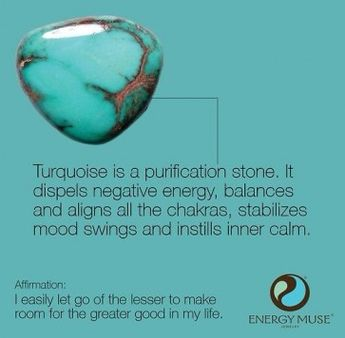 Turquoise is a purification stone.