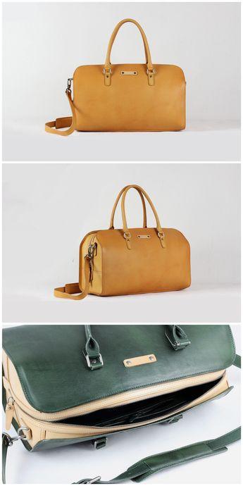 afd7164b246 Full Grain Leather Holdall Luggage Bag Travel Duffle Bag F91