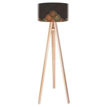 Stehleuchte Retro Orange Stehlampe Brauner Schirm Steh