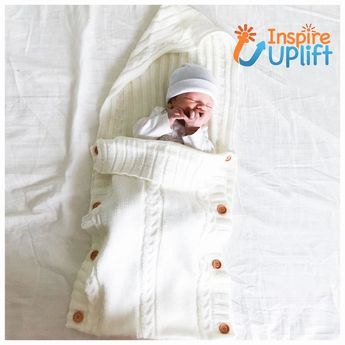 Baby Knitted Sleeping Bag #inspireuplift #acrylic #AllYearLong #BabyShower #bag #baby #06Months #adorable #black #beige  The very definition of BUNDLE OF JOY! Our gorgeous, handmade Baby Knitted Sleeping Bag will keep your baby warm and cozy in the cooler months of spring and of course in the cold of winter- actually, you might just use it all year long! This adorable, little knit sleeping bag is made using only high quality materials. It's suitable for infants ages 0-6 months. Sleeping bag feat