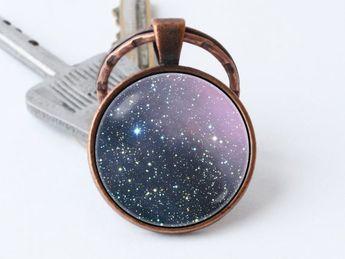Nebula Carina keychain Space gift Cosmos keyring Nebula key ring Galaxy jewelry Galaxy pendant Nebula key chain Space keychain Gift ideas