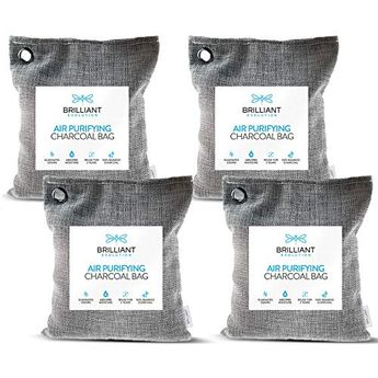 Brilliant Evolution Bamboo Charcoal Air Purifying Bag 220g 4 Pack | Car Air Freshener | Closet Deodorizer | Natural Air Purifier | Activated Charcoal Odor Absorber | Odor Eliminator | Room Deodorizer. #Brilliant #Evolution #Bamboo #Charcoal #Purifying #220g #Pack #Freshener #Closet #Deodorizer #Natural #Purifier #Activated #Odor #Absorber #Eliminator #Room