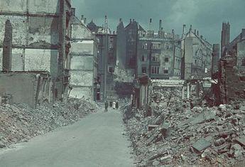 Wuppertal (Nordrhein-Westfalen): Trümmerlandschaft 1943