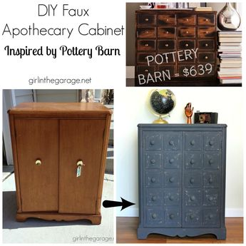 Faux Apothecary Cabinet - Pottery Barn Inspired Makeover