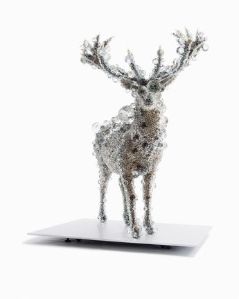 Kohei NAWA PixCell-Red Deer (2012) from the Beads series 2000– Red Deer (Cervus elaphus), glass, (crystal glass), vinyl acetate, acrylic urethane, epoxy resin 206.5 x 170.8 x 185.2 cm (overall) National Gallery of Victoria, Melbourne Felton Bequest, 2013 2013.554 © Kohei Nawa, courtesy Sandwich, Kyoto  / Collection | NGV
