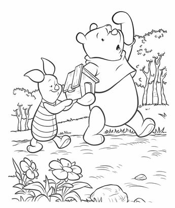 Winnie The Pooh Coloring Pages Going To See The Movie