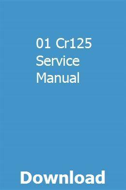 01 Cr125 Service Manual pdf download
