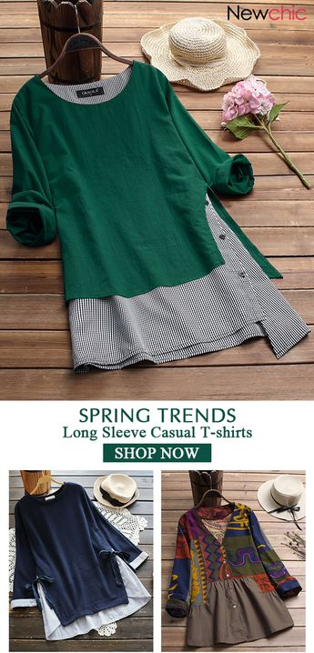 2019 Spring trends for women long sleeve T-shirt, plus size and colors you can options. Shop now!