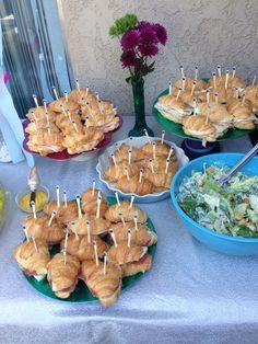"Croissant ""Crabwiches"" for little mermaid child bathe, seashore get together, or beneath the....  Learn even more at the photo"