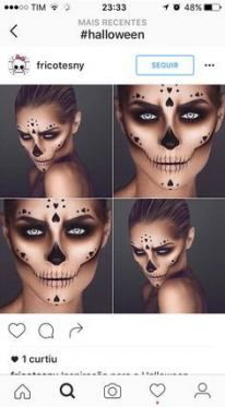 21+ Ideas Makeup Halloween Easy Skull For 2019 #makeup