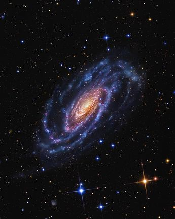 Galaxy NGC 5033, located approximately 43 million light-years from Earth toward the Canes Venatici constellation