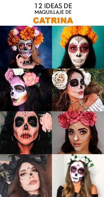 12 Ideas lindas de Maquillaje de Catrina #maquillaje #makeup