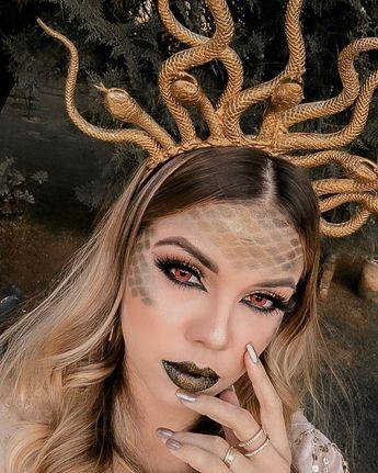 maquiagem Medusa Camilla Amaral, maquiagem artística, artistic mAkeup, fx mAkeup, maquiagem carnaval, diy tiara medusa, medusa carnaval, fantasia medusa