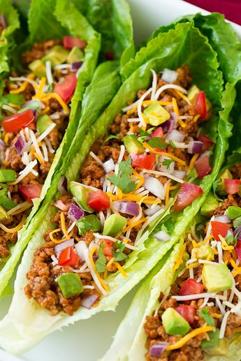 Turkey Taco Lettuce Wraps (Cooking Classy)