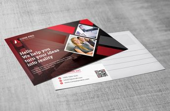 Advertising Corporate Postcard Template - Graphic Templates