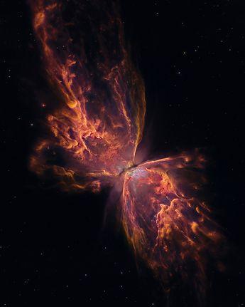 The Butterfly Nebula. Image Credit: NASA, ESA, Hubble, HLA; Reprocessing & Copyright: Jesús M.Vargas & Maritxu Poyal