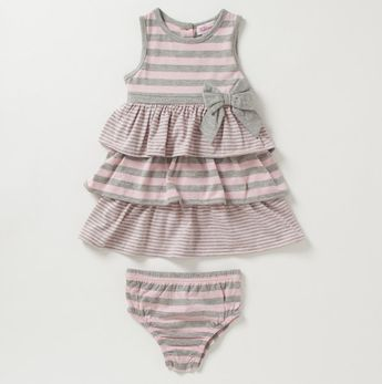 This is one of my favorites on totsy.com: Newborn Girls Striped Multi Stripe Dress with ...