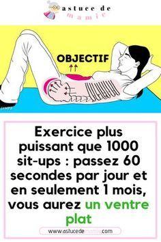 Exercice plus puissant que 1000 sit-ups: passez 60 secondes par jour et en seulement 1 mois, vous aurez un ventre plat