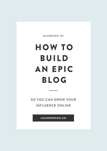 Blogging 101: How to build an epic blog