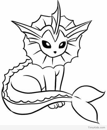 Pokemon Kleurplaten Glaceon.Lineart Glaceon