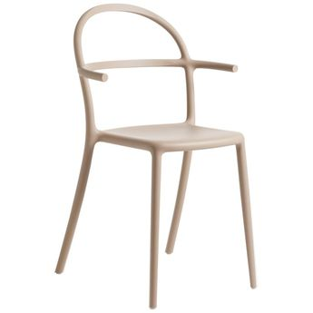 Set Of 2 Kartell Generic C Chairs In Dove Grey By Philippe Starck