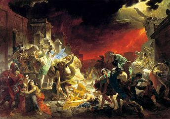 'The last Day of Pompeii', 1833. Briullov, Karl Pavlovich . Found in...