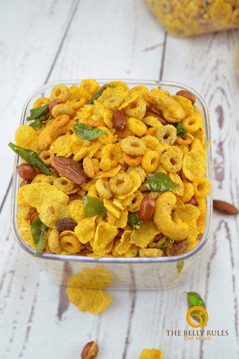 Cereal Chivda[Savory Trail Mix) Vegan