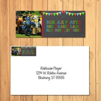 Roblox Return Address Label Chalkboard