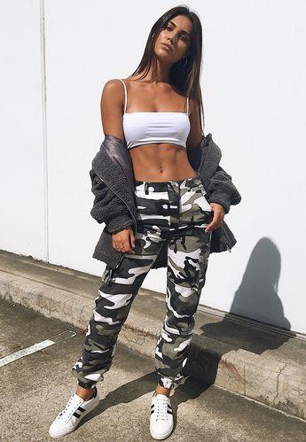 Premium Grey Camo Printed Cargo Trousers