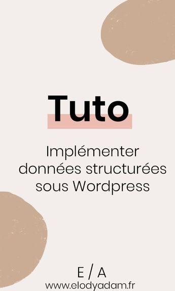 Tuto : les données structurées sur Wordpress