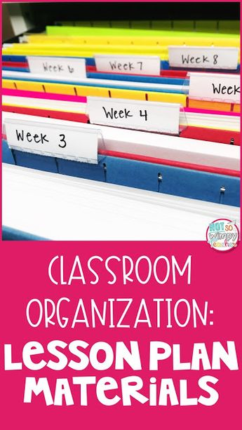 Classroom Organization: Lesson Plan Materials and Resources