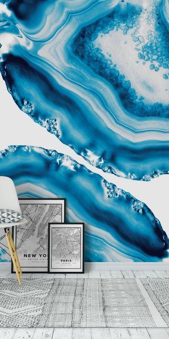 Blue Agate 4 Wall Mural / Wallpaper Art