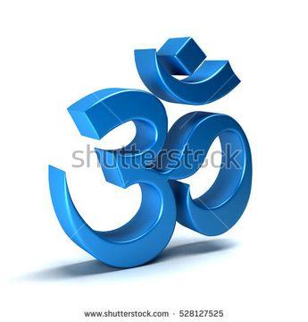 Om Symbol. Power of the Universe. Good Luck. 3D Rendering Illustration