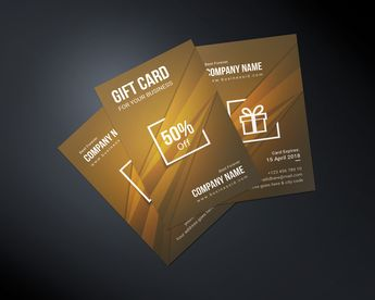 Stylish Corporate Gift Card Template - Graphic Templates