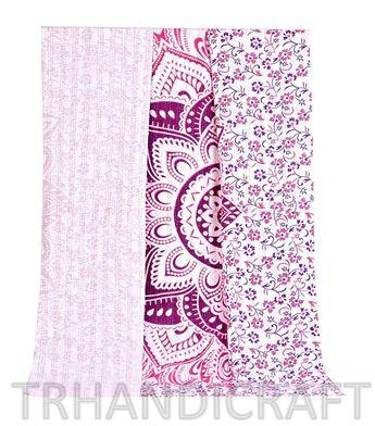 Ombre Queen Reversible Kantha Quilt Comforter Boho Bedspread Throw Home Decor Blanket Bohemein Sofa Throw Bedcover Hippie Indian Handmade