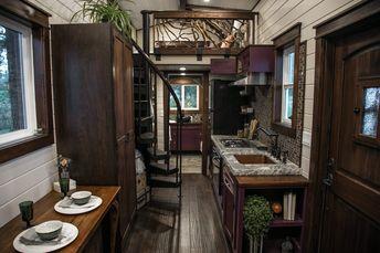 Whimsical tiny house features distinctive Tudor styling