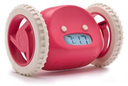 Cool idea but I can't think of a worse way to wake up than to have to chase your alarm clock.
