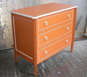 Sydney Barton - Painted Furniture: Orange Retro Chest