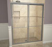 Base'N Door™ Shower Kits include Pan, Door, Niche and Flashing