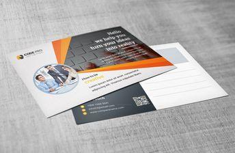 Stylish Postcard Design Templates 002762 - Template Catalog