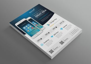 Application Modern Professional Business Flyer Template - Graphic Templates