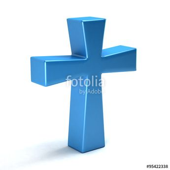 """""""Cross 3D icon glossy blue"""" Stock photo and royalty-free images on Fotolia.com - Pic 95422338"""
