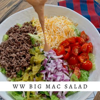 This Big Mac Salad tastes just like a Big Mac from Mcdonalds-without the high calories and fat. This Big Mac Salad is a keeper! I may have a salad obsession-in fact I could eat salad everyday of my life and never get sick of it. If you are salad lover like myself-be sure to check out a ... Read More about Big Mac Salad