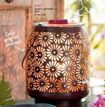 Scentsy Daisy Lantern Warmer. New for Scentsy Spring/Summer 2017. Order online or preorder at my website!