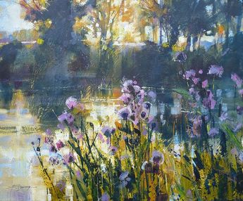 Thistles and Mist on the River - Chris Forsey