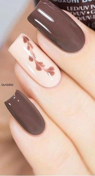 Gorgeous simple nail art, nude nails #simplenailart